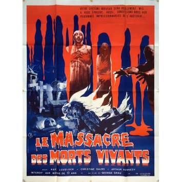 THE LIVING DEAD AT MANCHESTER MORGUE Movie Poster 47x63 in. - 1974 - Jorge Grau, Cristina Galbo