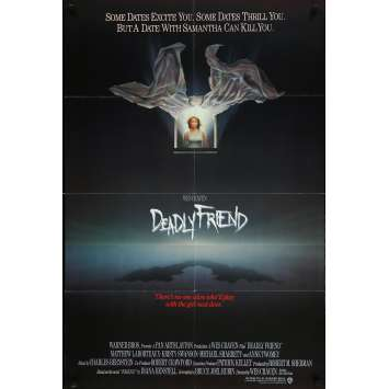 DEADLY FRIEND Movie Poster 27x40 in. - 1986 - Wes Craven, Matthew Labyorteaux