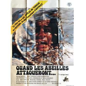 QUAND LES ABEILLES ATTAQUERONT Affiche de film 120x160 cm - 1976 - Ben Johnson, Bruce Geller