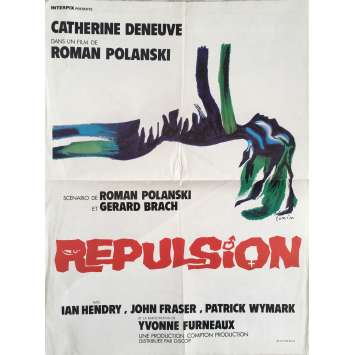 REPULSION Affiche de film 40x60 cm - 1965 - Catherine Deneuve, Roman Polanski