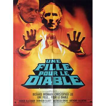 UNE FILLE POUR LE DIABLE Affiche de film 60x80 cm - 1976 - Christopher Lee, Peter Sykes