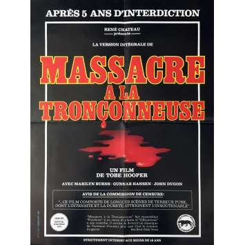 MASSACRE A LA TRONÇONNEUSE Affiche de film 40x60 cm - 1974 - Marilyn Burns, Tobe Hooper