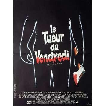 VENDREDI 13 : LE TUEUR DU VENDREDI Affiche de film 40x60 cm - 1981 - Betsy Palmer, Steve Miner