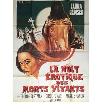 LA NUIT FANTASTIQUE DES MORTS VIVANTS Affiche de film 120x160 cm - 1980 - George Eastman, Joe D'amato