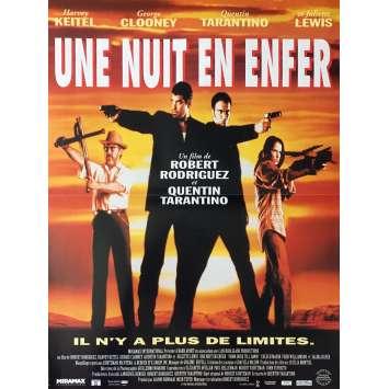 UNE NUIT EN ENFER Affiche de film 40x60 cm - 1996 - George Clooney, Robert Rodriguez