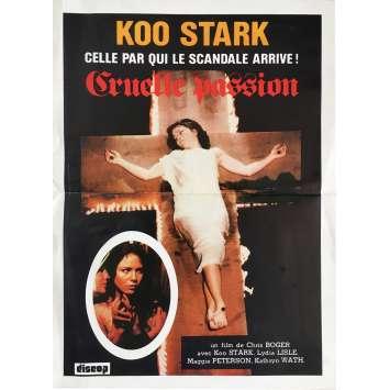 JUSTINE CRUELLE PASSION Affiche de film 40x60 cm - 1977 - Koo Stark, Chris Boger