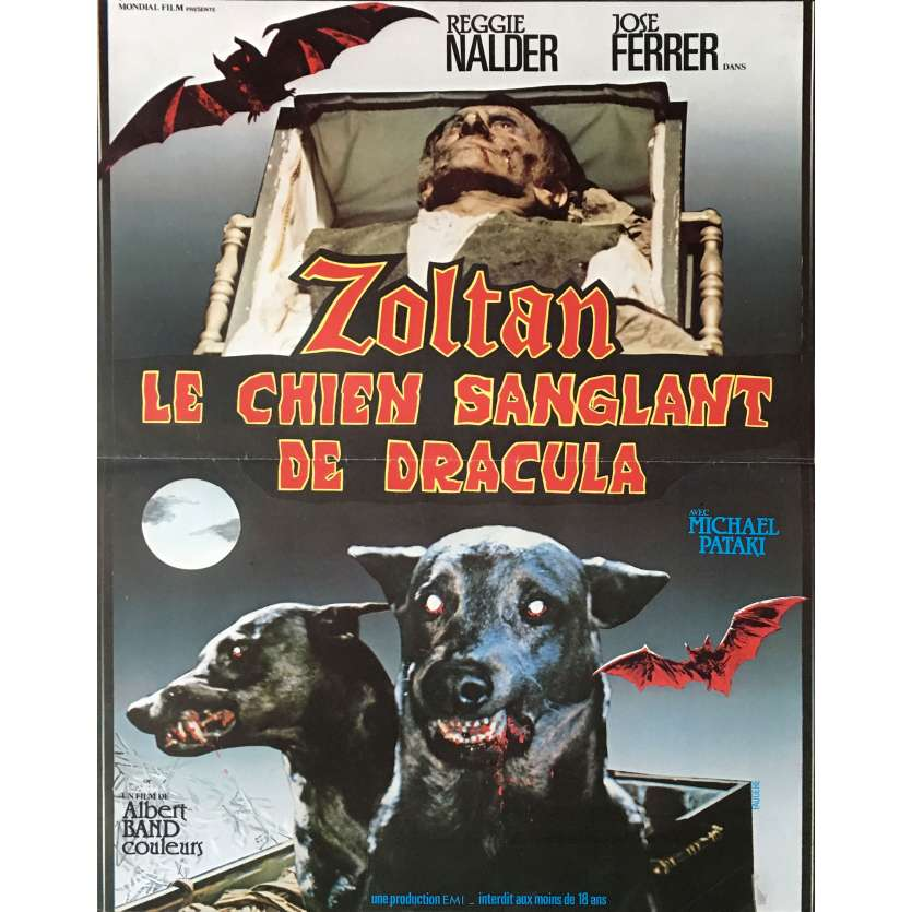 'ZOLTAN Hound of Dracula French Movie Poster 15x21 ''78 Horror '