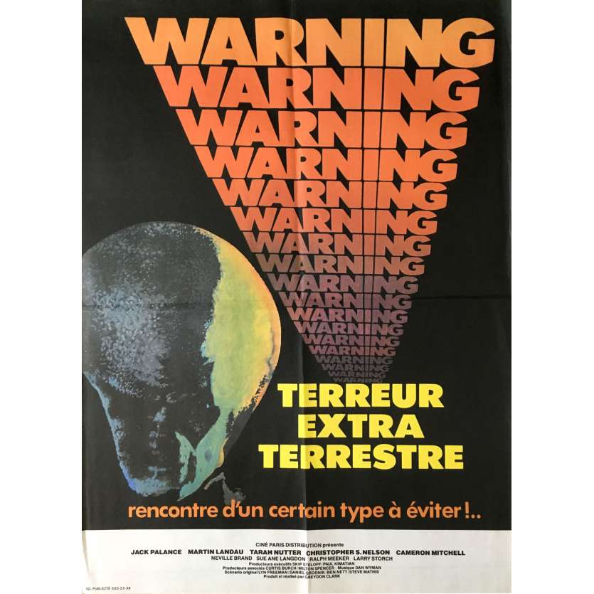 WARNING TERREUR EXTRA-TERRESTRE Affiche de film 40x60 cm - 1980 - Jack Palance, Greydon Clark