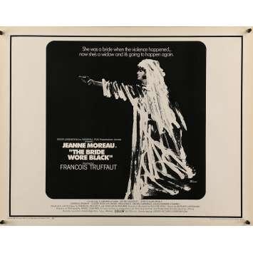 LA MARIEE ETAIT EN NOIR Affiche de film 55x71 cm - Half Sheet 1968 - Jeanne Moreau, François Truffaut