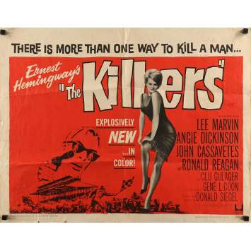THE KILLERS Movie Poster 22x28 in. - Half Sheet 1964 - Don Siegel, Lee Marvin