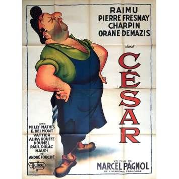 CESAR Affiche de film 120x160 cm - 1936 - Dubout, Raimu, Fernandel, Pagnol