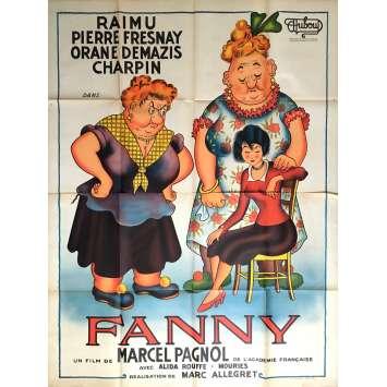 FANNY Affiche de film 120x160 cm - 1932 - Dubout, Raimu, Pagnol