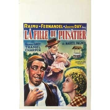 LA FILLE DU PUISATIER Affiche de film 28x43 cm - 1940 - Raimu, Fernandel, Marcel Pagnol