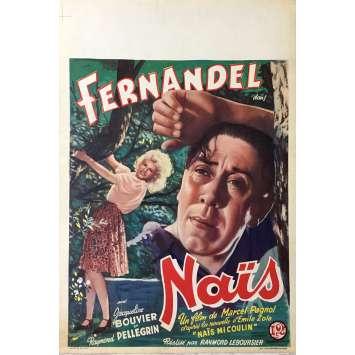 NAÏS Affiche de film 28x43 cm - 1945 - Fernandel, Marcel Pagnol