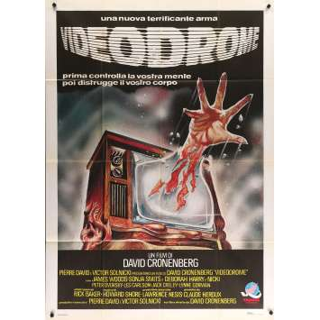 VIDEODROME Movie Poster 39x55 in. - 1983 - David Cronenberg, James Woods