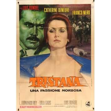 TRISTANA Affiche de film 100x140 cm - 1970 - Catherine Deneuve, Luis Buñuel -