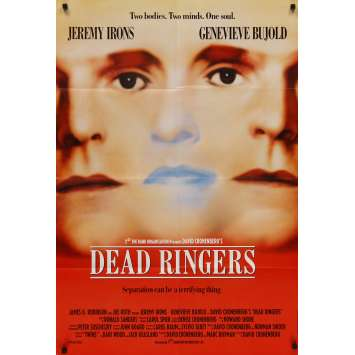 DEAD RINGERS English Movie Poster 27x40 - 1989 - David Cronenberg, Jeremy Irons