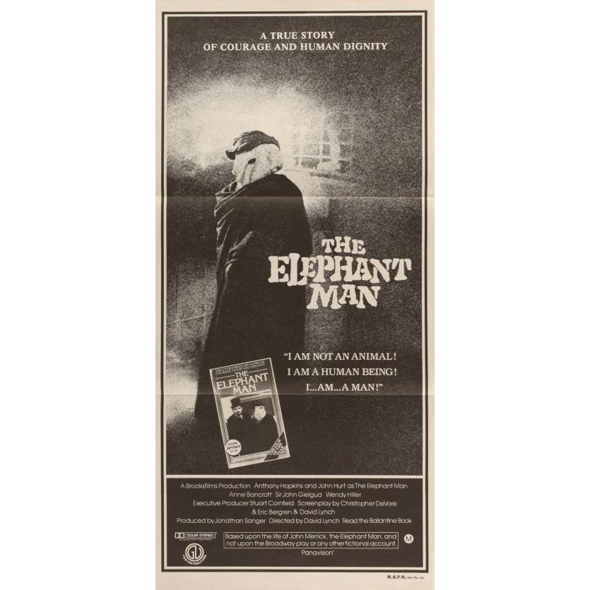 ELEPHANT MAN Australian Movie Poster 8x10- 1980 - David Lynch, Anthony Hopkins