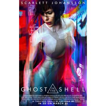 GHOST IN THE SHELL Movie Poster 27x40 in. - DS 2017 - Rupert Sanders, Scarlett Johansson