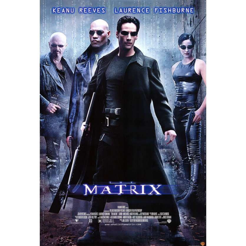 MATRIX Video Affiche du film US '99 Keanu Reeves, Wachowski Bros