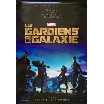 LES GARDIENS DE LA GALAXIE Affiche de film 69x101 cm - DS 2014 - Chris Pratt, James Gunn -