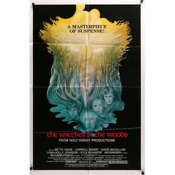 WATCHER IN THE WOODS Movie Poster style B - Disney, Bette Davis