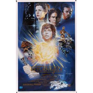 STAR WARS - LE RETOUR DU JEDI Affiche US Signée par Kazuhiko Sano - DS – 1995