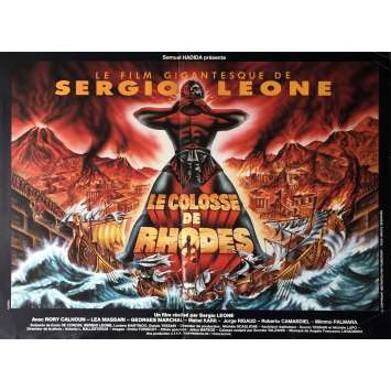 THE COLOSSUS OF RHODES Movie Poster 15x21 in. - 1983 - Sergio Leone, Lea Massari