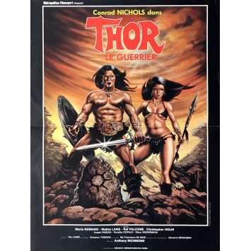 THOR LE GUERRIER Affiche de film 40x60 cm - 1983 - Heroic Fantasy