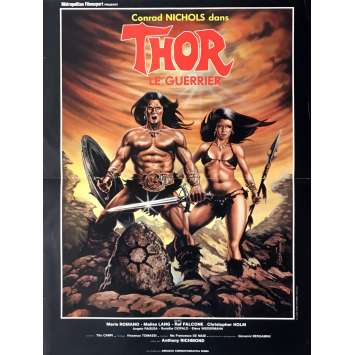 THOR THE CONQUEROR Movie Poster 15x21 in. - 1983 - Tonino Ricci, Bruno Minitti