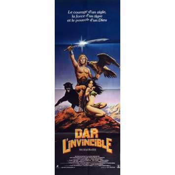 DAR L'INVICIBLE Affiche de film 60x160 cm - 1982 – Coscarelli, Heroic Fantasy