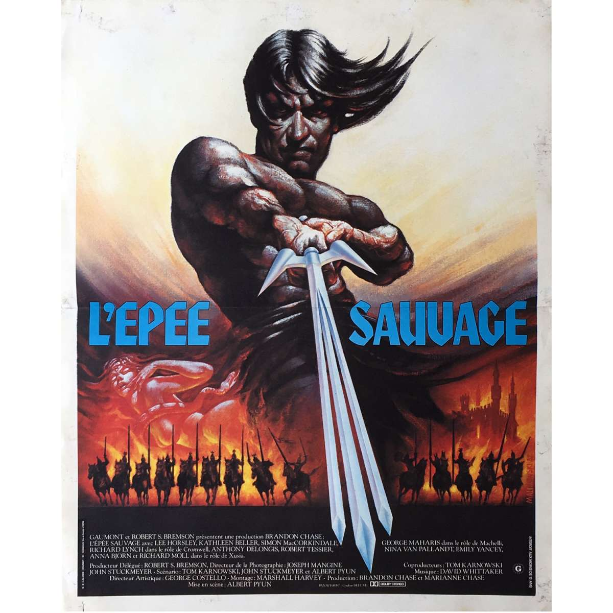 the sword and the sorcerer movie poster 15x21 in
