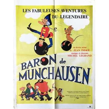 BARON MUNCHAUSEN Movie Poster 23x32 in. - 1979 - Jean Image, Dominique Paturel