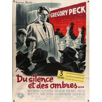 DU SILENCE ET DES OMBRES Affiche de film 120x160 cm - 1962 - Gregory Peck, Robert Mullingan -