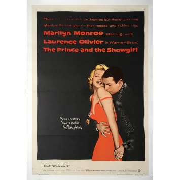 THE PRINCE AND THE SHOWGIRL Movie Poster 27x40 in. - 1957 - Lawrence Oliver, Marilyn Monroe