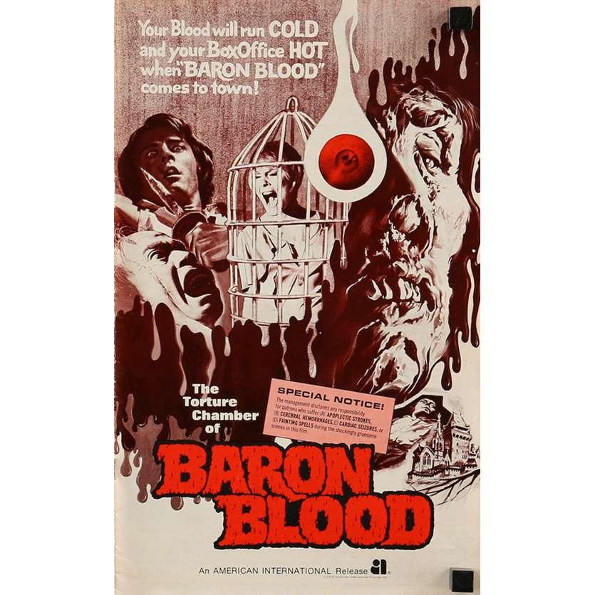 BARON VAMPIRE Dossier de presse 22x36 cm - 12p 1972 - Joseph Cotten, Mario Bava