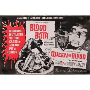 BLOOD BATH / QUEEN OF BLOOD Dossier de presse 28x43 cm - 4p 1966 - Curtis Harrington, Jack Hill