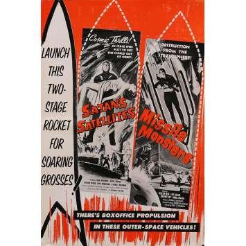SATAN'S SATELLITES / MISSILE MONSTERS Dossier de presse 30x46 cm - 14p 1958 - Judd Holdren, Fred C. Brannon