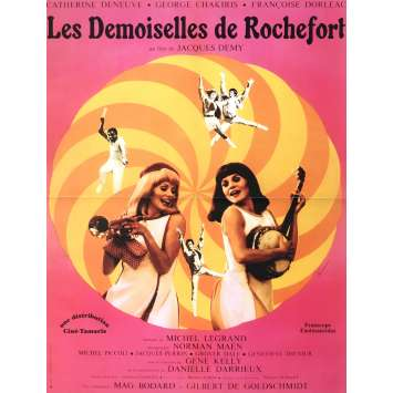 THE YOUNG GIRLS OF ROCHEFORT Movie Poster 15x21 in. - R2003 - Jacques Demy, Catherine Deneuve