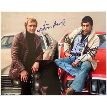 STARSKY ET HUTCH Photo signée par David Soul et Paul Michael Glaser - 28x36 - 1980's