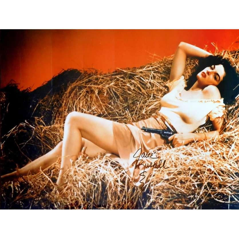 JANE RUSSEL Photo Signée 30x40 - 1980 - Jane Russel,