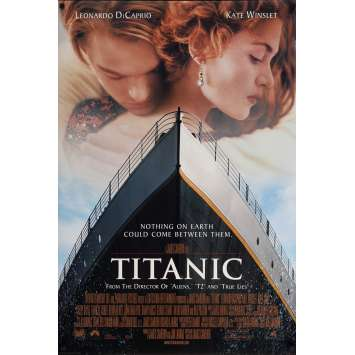 TITANIC Movie Poster 27x40 in. - DS 1997 - James Cameron, Leonardo DiCaprio