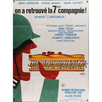 THE 7th COMPANY HAS BEEN FOUND Movie Poster 47x63 in. - 1975 - Robert Lamoureux, Jean Lefebvre, Pierre Mondy