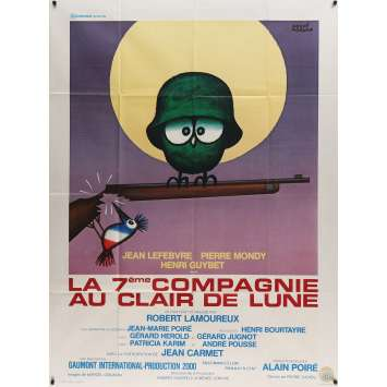 G COMPANY IN HONEY MOON Movie Poster 47x63 in. - 1977 - Robert Lamoureux, Jean Lefebvre, Pierre Mondy