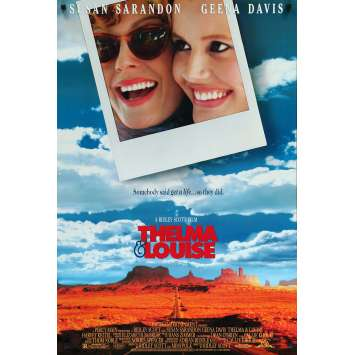 THELMA AND LOUISE Movie Poster 27x40 in. - 1991 - Ridley Scott, Geena Davis