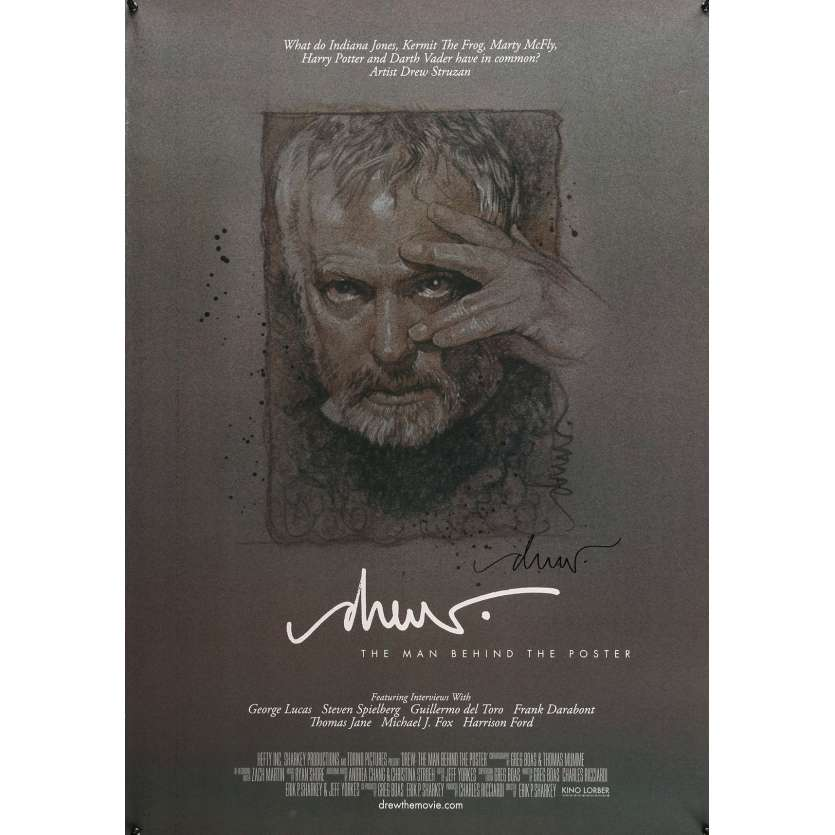 DREW: THE MAN BEHIND THE POSTER Signed Poster 29x41 in. USA - 2013 - Eric Sharkey, Drew Strewzan