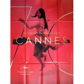 FESTIVAL DE CANNES 2017 Affiche Officielle 120x160 cm, pliée - Claudia Cardinale, RARE !