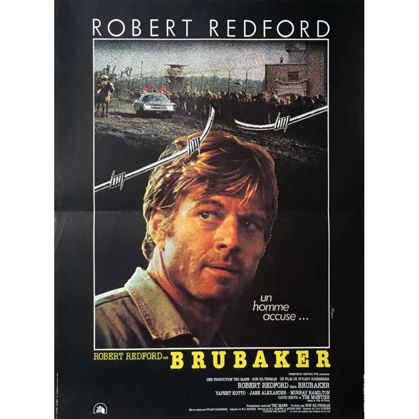 BRUBAKER Affiche de film 40x60 - 1980 - Robert Redford