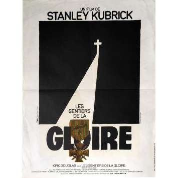 PATH OF GLORY French Movie Poster 15x21 '75 Stanley Kubrick, Kirk Douglas