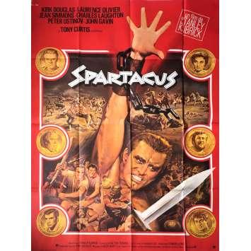 SPARTACUS Movie Poster 47x63 in. - R1970 - Stanley Kubrick, Kirk Douglas